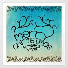 merry christmas everyone Art Print