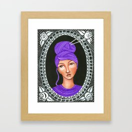 She's Crafty Framed Art Print
