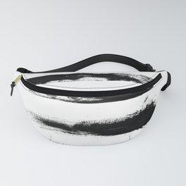 Abstract Black Brushstrokes Fanny Pack