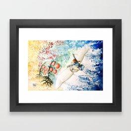 """The flying princess"" Framed Art Print"