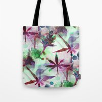 northern lights Tote Bags featuring Northern Lights by Cannabis Color Art