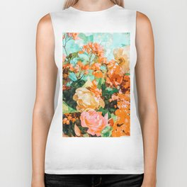 Blush Garden #painting #nature #floral Biker Tank