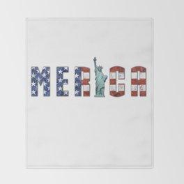 Merica Throw Blanket