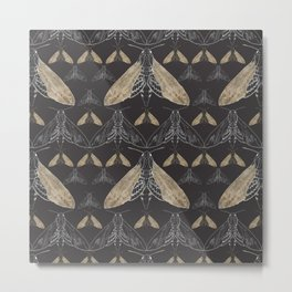 Moth pattern Metal Print