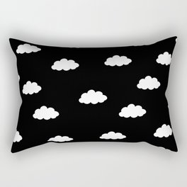 White clouds in black background Rectangular Pillow