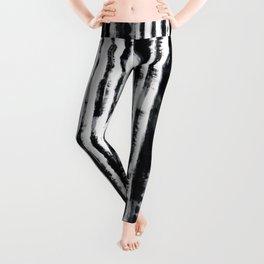 Tie-Dye Shibori Stripe BW Leggings