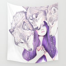 Wolf Pack Wall Tapestry
