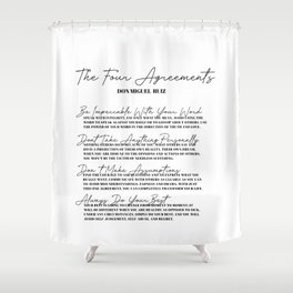 the four agreements Shower Curtain