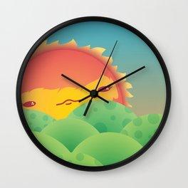 Sunlit Hills Wall Clock