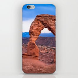 Delicate - Delicate Arch Glows on Rainy Day in Utah Desert iPhone Skin