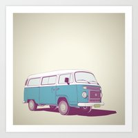 vw Art Prints featuring VW Combi v.02 by CranioDsgn