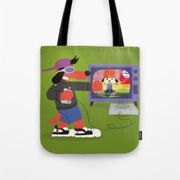 rap Tote Bags featuring Rap Game by Lily's Factory