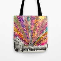 paris Tote Bags featuring Vintage Paris by Bianca Green