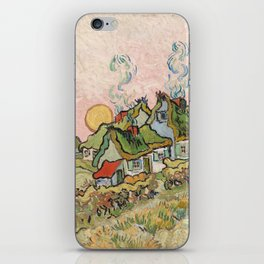 Houses and Figure by Vincent Van Gogh, 1890 iPhone Skin