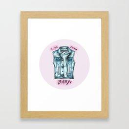 Blue Jean Baby #4 Framed Art Print