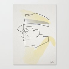 One Line Dick Tracy Canvas Print