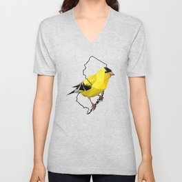 New Jersey – American Goldfinch Unisex V-Neck