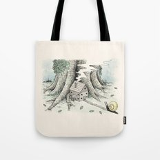 'A Visitor' (Colour) Tote Bag