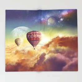 clouds,sky and ballons Throw Blanket