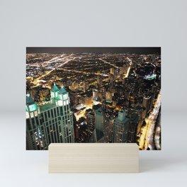 Chicago City Skyline Mini Art Print