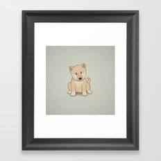 Shiba Inu Dog Illustration Framed Art Print