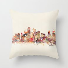 Kansas City Missouri Throw Pillow