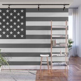 American flag in Gray scale Wall Mural
