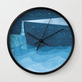 Lighthouse illustration Wall Clock