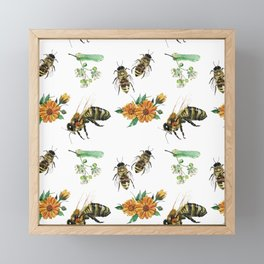 Honey Bees Framed Mini Art Print
