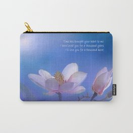 A Thousand Years   Christina Perri Inspired Lyric Art Print Carry-All Pouch