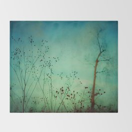 Between Autumn and Winter Throw Blanket