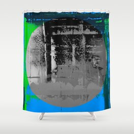 Color Chrome - B/W graphic Shower Curtain