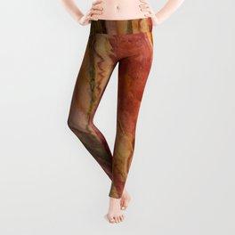 Salmon Striped Quartz Leggings