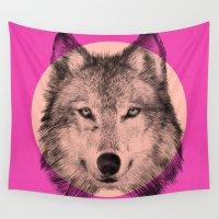 eric fan Wall Tapestries featuring Wild 7 by Eric Fan & Garima Dhawan by Garima Dhawan