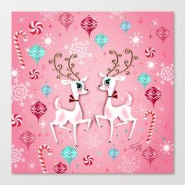 Cute Christmas Reindeer Canvas Print