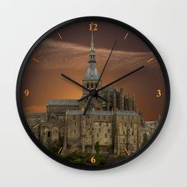 Mont-Saint-Michel Wall Clock