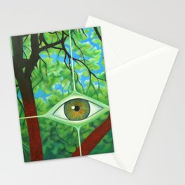 Detail of Ayahuasca painting Stationery Cards