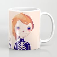 bones Mugs featuring Bones by Nan Lawson