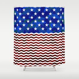 USA (Camouflage) Shower Curtain