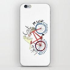 bike,cat, meow iPhone & iPod Skin