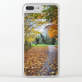 A Stroll Along the Path to Autumn Clear iPhone Case
