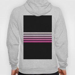 Pink Abstract Minimal Retro Stripes 70s Style - Nobuyasu Hoody