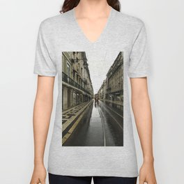 Morning Street Car Unisex V-Neck