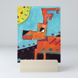 Squareland -Deer Mini Art Print