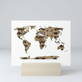 Shibori Map of World 7 Mini Art Print
