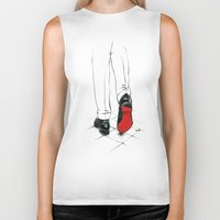 code Biker Tanks featuring Code Red by anna hammer