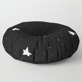 Moon Phases: New moon Floor Pillow