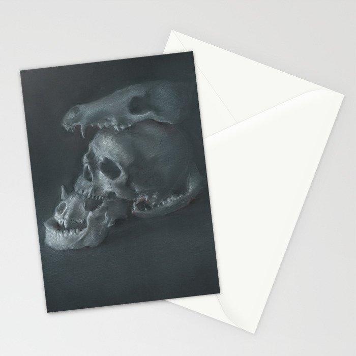 STACKED SKULLS Stationery Cards