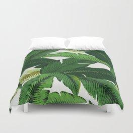 banana leaf palms Duvet Cover