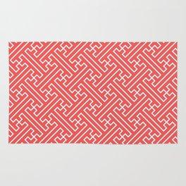Lattice - Coral Rug